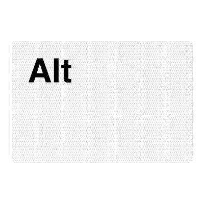Jackie Rose Alt Black/White Area Rug Rug Size: 4 x 6