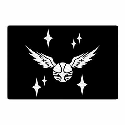 Jackie Rose Snitch Fantasy Black/Gold Area Rug Rug Size: 4 x 6