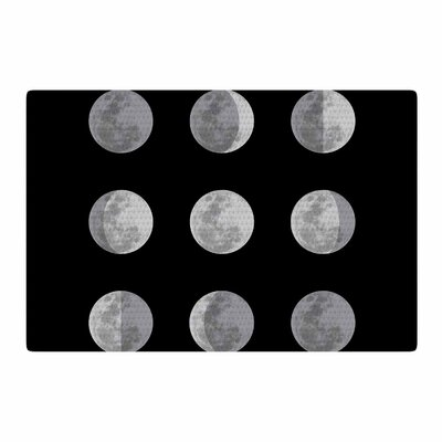 Jackie Rose Lunar OCD Black/Gray Area Rug Rug Size: 2 x 3