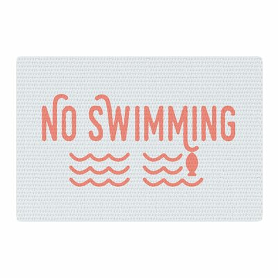 Jackie Rose No Swimming Typography Pink Area Rug Rug Size: 4 x 6