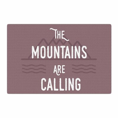 Jackie Rose The Mountains Are Calling Typography Purple Area Rug Rug Size: 2 x 3