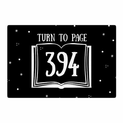 Jackie Rose Turn to Page 394 Pop Art Black Area Rug Rug Size: 4 x 6