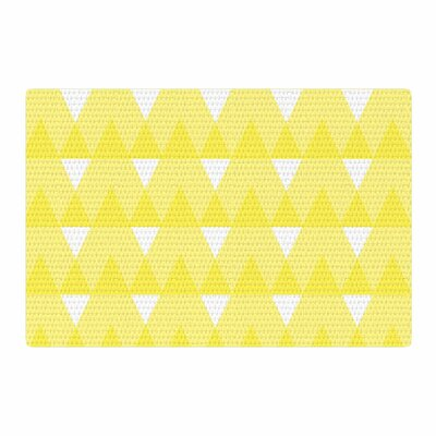 Jackie Rose Triangles Custard White/Yellow Area Rug Rug Size: 2 x 3