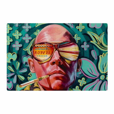 Jared Yamahata Bad Trip Pop Art Floral Pink/Green Area Rug Rug Size: 2 x 3