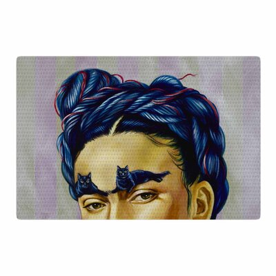 Jared Yamahata Frida Katlo People Blue Area Rug Rug Size: 4 x 6