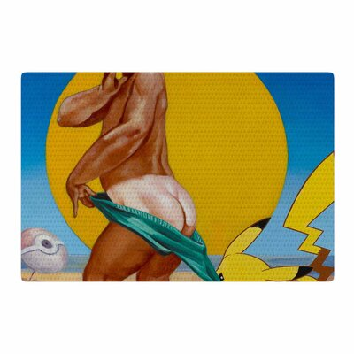 Jared Yamahata Peekachu Pop Art Yellow Area Rug Rug Size: 4 x 6