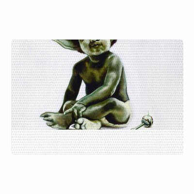 Jared Yamahata Ready to JEDI Pop Art Green Area Rug Rug Size: 2 x 3