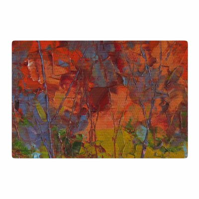 Jeff Ferst Fall Colours Painting Red Area Rug Rug Size: 2 x 3