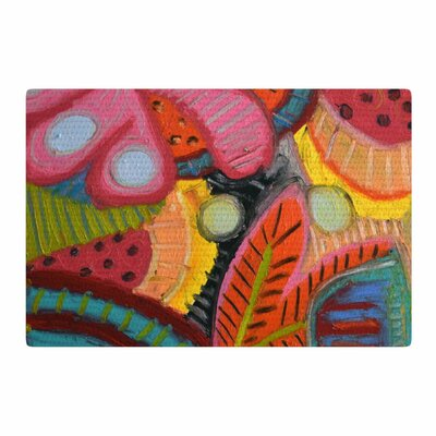 Jeff Ferst Tropic Delight Pink/Yellow Area Rug Rug Size: 4 x 6