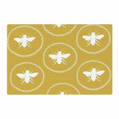 Jennifer Rizzo Busy As A Bee Maise White/Gold/Nature Area Rug Rug Size: 2 x 3