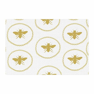 Jennifer Rizzo Busy As A Bee Maize Yellow/White/Nature Area Rug Rug Size: 4 x 6