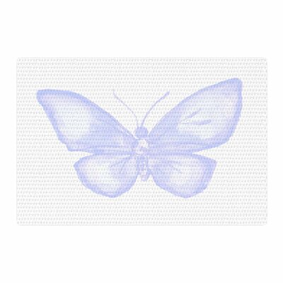 Jennifer Rizzo Lavender Butterfly Purple/White Area Rug Rug Size: 4 x 6