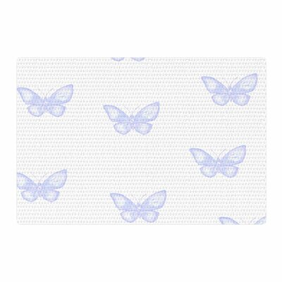 Jennifer Rizzo Many Lavender Butterflies Purple/White Area Rug Rug Size: 4 x 6