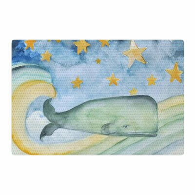 Jennifer Rizzo Swimming WIth the Stars Illustration Animals Blue/Yellow/Green Area Rug Rug Size: 2 x 3