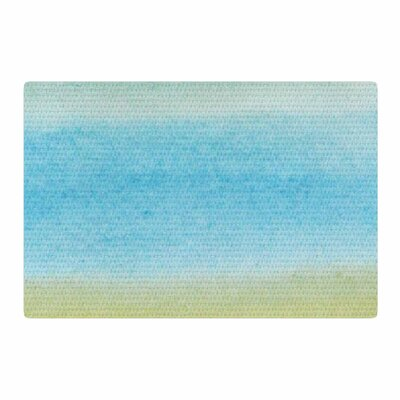 Jennifer Rizzo Watercolor Paint Stripe Blue/Tan Area Rug Rug Size: 2 x 3