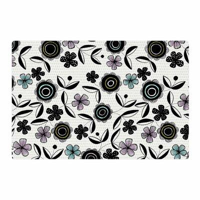 Jessica Wilde Artisan Floral Black/White Area Rug Rug Size: 2 x 3