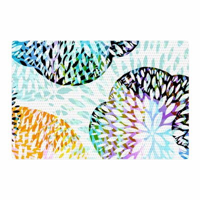 Jessica Wilde Tropical Flora Abstract Pastel Area Rug Rug Size: 2 x 3