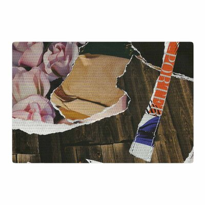 Jina Ninjjaga Autumn Pop Art Brown Area Rug Rug Size: 4 x 6