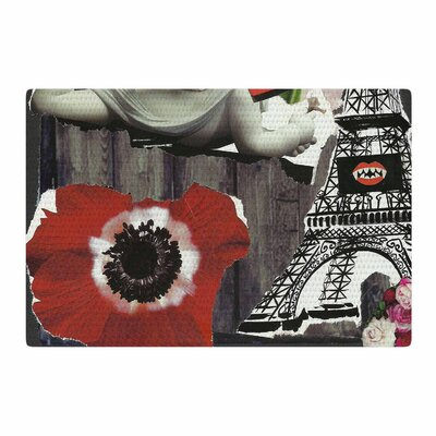 Jina Ninjjaga Parish Pop Art Red/Gray Area Rug Rug Size: 2 x 3