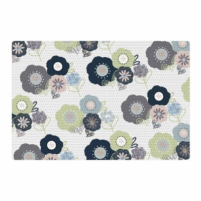Jolene Heckman Floral Bunches Blue/Green Area Rug Rug Size: 4 x 6