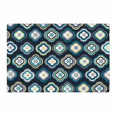 Jolene Heckman Graphic Floral Teal/Blue Area Rug Rug Size: 4 x 6