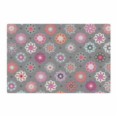 Jolene Heckman Mini Floral Pink/Gray Area Rug Rug Size: 2 x 3