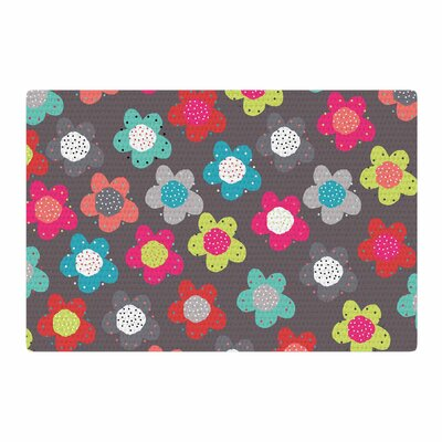 Jolene Heckmen Sunny Days Pink/Teal Area Rug Rug Size: 4 x 6