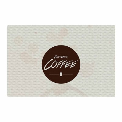 Juan Paolo But First Coffee Beige/Brown Area Rug Rug Size: 4 x 6