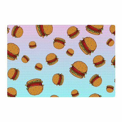 Juan Paolo Cheeseburger Paradise Pastel/Blue Area Rug Rug Size: 4 x 6