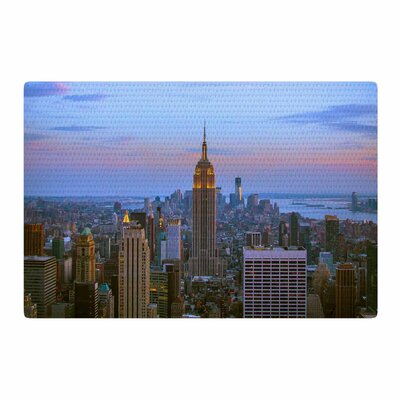 Juan Paolo Empire State of Mind Blue Area Rug Rug Size: 4 x 6