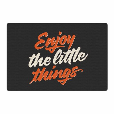 Juan Paolo Enjoy the Little Things Vintage Orange Area Rug Rug Size: 2 x 3