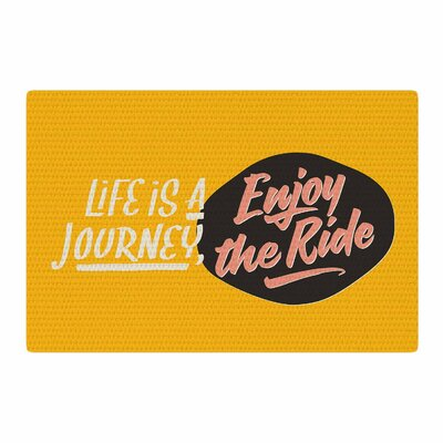 Juan Paolo Enjoy The Ride Vintage Yellow Area Rug Rug Size: 2 x 3