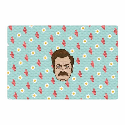 Juan Paolo Give Me All of The Bacon and Eggs Parks and Recreation Blue Area Rug Rug Size: 4 x 6