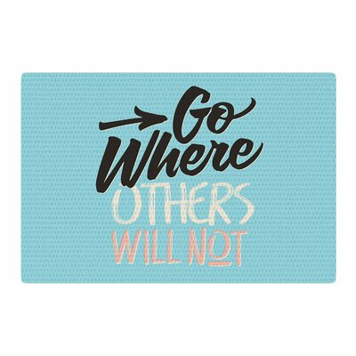 Juan Paolo Go Where Others Will Not Vintage Blue Area Rug Rug Size: 2 x 3