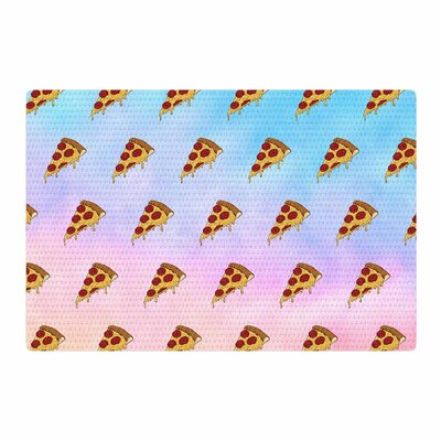 Juan Paolo Lucid Pizza Food Pattern Blue/Pink Area Rug Rug Size: 2 x 3