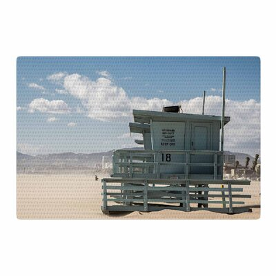 Juan Paolo No Lifeguard on Duty Blue Area Rug Rug Size: 2 x 3