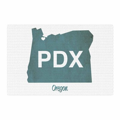 Juan Paolo PDX Teal/White Area Rug Rug Size: 4 x 6