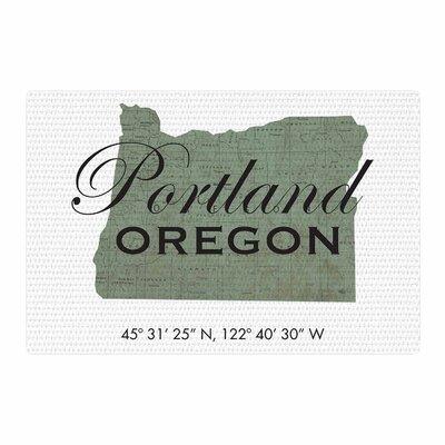 Juan Paolo Portland Coordinates Green/White Area Rug Rug Size: 2 x 3