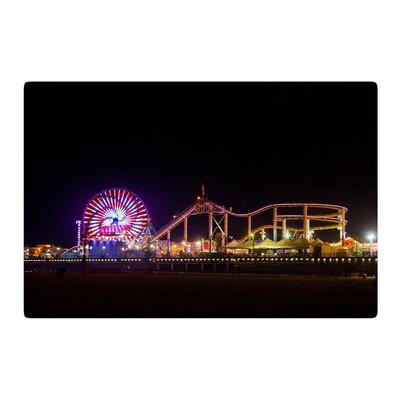 Juan Paolo Santa Monica Pier Black Area Rug Rug Size: 2 x 3