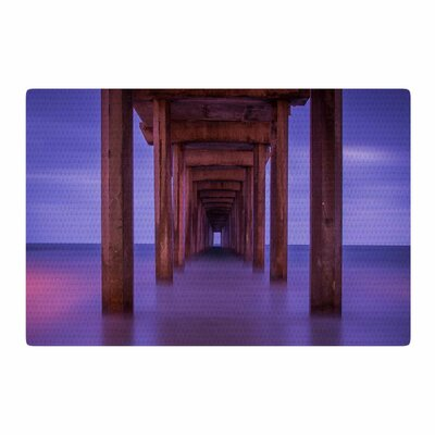 Juan Paolo Scripps Pier Pink/Purple Area Rug Rug Size: 4 x 6