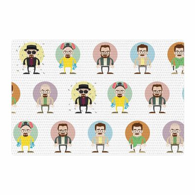 Juan Paolo The Stages of Walter Breaking Bad White Area Rug Rug Size: 4 x 6