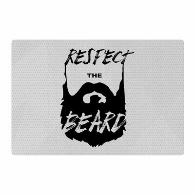 Juan Paulo Respect the Beard Typography Black/Gray Area Rug Rug Size: 2 x 3