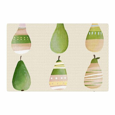 Judith Loske Happy Pears Green/Gold Area Rug Rug Size: 2 x 3