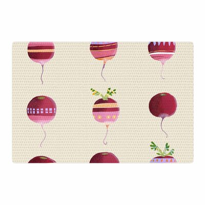 Judith Loske Happy Radishes Ped/Pink Area Rug Rug Size: 2 x 3