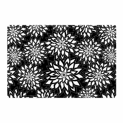 Julia Grifol Garden Digital Vector Black/White Area Rug Rug Size: 4 x 6