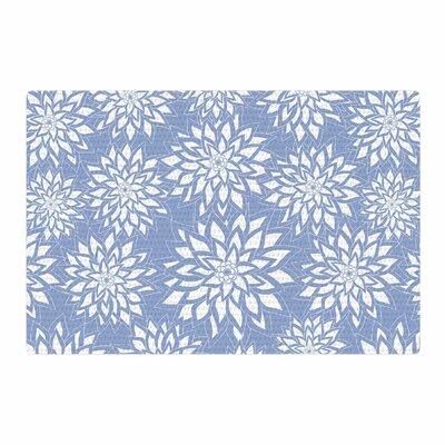 Julia Grifol Garden White/Blue Area Rug Rug Size: 2 x 3