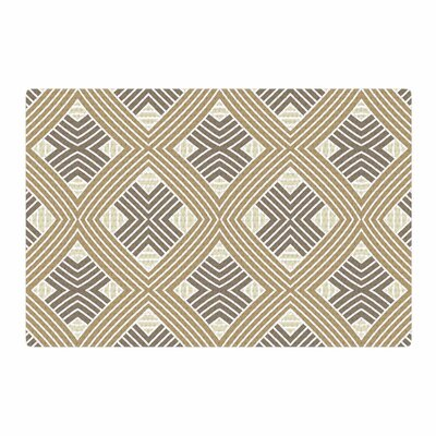 Julia Grifol Geometries Geometric Beige Area Rug Rug Size: 2 x 3