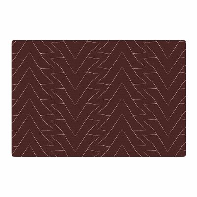 Julia Grifol Triangles Pattern Maroon/Brown Area Rug Rug Size: 2 x 3