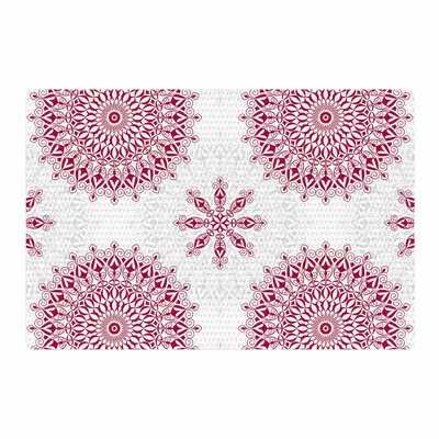 Julia Grifol Geometric Mandalas Red/White Area Rug Rug Size: 2 x 3