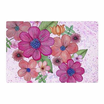 Julia Grifol My Garden Floral Magenta/Pink Area Rug Rug Size: 4 x 6